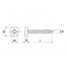 PLAATSCHROEF DIN 7981 A2 4,8 X 38 - 200