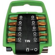 11DLG PRO BITSET MET CLIP TIN PZ/PH/TX 25MM