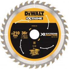 DEWALT FLEXVOLT EXTREME RUNTIME CIRKELZAAGBLAD 210X30MM 36 TND DT99566
