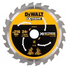 DEWALT FLEXVOLT EXTREME RUNTIME CIRKELZAAGBLAD 216X30MM 24 TND DT99568